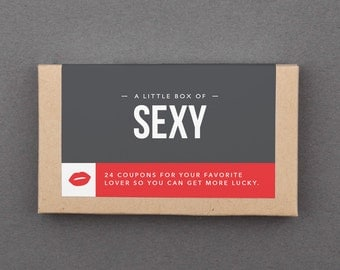 """Naughty Sexy Love Sex Coupons. First Paper Anniversary, Wedding. Husband, Boyfriend, Wife, Girlfriend, Him, Her, Man, Woman. """"Sexy"""" (L2SEX)"""