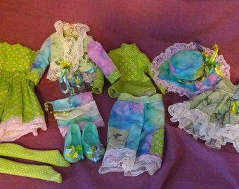 9 piece Planet Luxe outfit for MSD; fits Lierre, Planetdoll, Kaye Wiggs MSDs, Kim Lasher Anya
