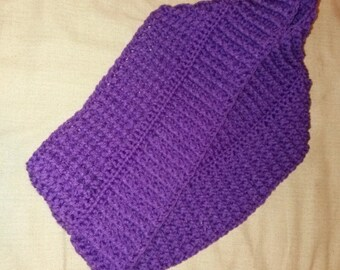 Purple infinity scarf with a twist handmade crocheted