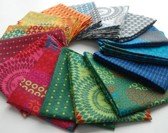 """Fat Quarter Bundle - """"Geo Coaster"""" Collection by Hoodie Crescent for Stof Fabrics"""