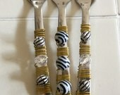 Funky Florida Finger Forks - Black and White -set of 3