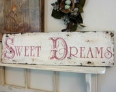 SWEET DREAMS, Sweet Dreams Sign, Nursery Signs, Baby Signs, 32 x 8 1/2