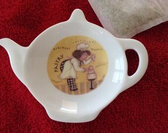 """Ceramic Teabag Holder Pastry  Chef  4.5"""""""