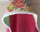 Kids-Towel-Personalized-Bath-Hooded-Towels-Girls-Girl -Pink-Flowers-Minky-Dot-Beach-Terry-Swim-Suit-Cover-Up-Newborn-essentials-Shower-Gifts