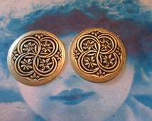 Brass Ox Plated Brass Floral Celtic Medallions 1180BOX x2