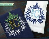 CFA - Set of Two Pagoda Monogrammed Hemstitch Towels - Custom Order CFA