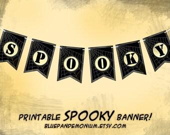 SALE - PDF Spooky Halloween pendant banner