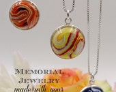 Memorial Beads, Pet Memorial, Memorial Keepsake, Flower Petal Jewelry, Funeral Flowers, Made to Order, Memorial Keepsake, Amelia Pendant