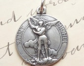 St Michael the Archangel Medal - Heavenly protector - Antique Reproduction