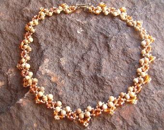 Necklace, Choker Necklace, Beaded Choker Necklace, Boho Necklace