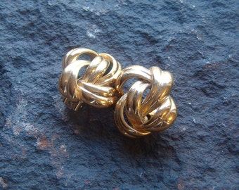 Givenchy Earrings, Vintage Givenchy Earrings, Gold Tone Clip On Earrings, Givenchy Jewelry