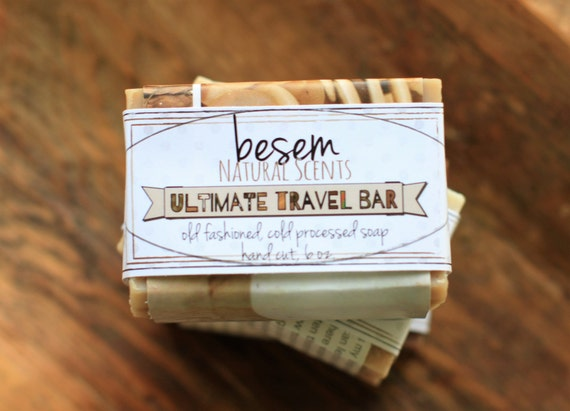 Ultimate Travel Soap, excellent for skin hair and scalp, one large 6 oz. bar