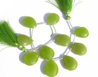 55% OFF SALE 1/2 Strand - Vesuvianite Chalcedony Faceted Pear Briolettes Size 21x16mm Finest Quality Wholesale Price