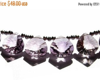 55% OFF SALE 3 Matched pairs 6 pcs Flawless AAA Pink Amethyst concave cut heart briolettes Size 12x12mm