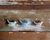 Drawer Pull Knob - Decorative Resin Cottage Chic Song Bird - 3 Styles to Choose