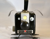 COSMO the CANINE CAMERA Assemblage Art Dog Recycled Robot