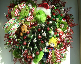 Pre-order 2017 XXL Grinch wreath,   Custom order, Christmas wreath, Holiday wreath, Max, Handmade wreath, Christmas  present