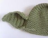 Yoda Hat Adult Size Hand Crocheted Geek Hat