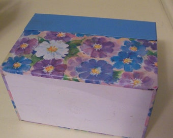adorable flowers ohio art recipe box