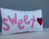 Sweetheart Be Mine Valentine Wedding Love Accent Pillow