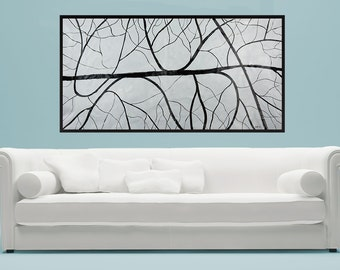 Modern Abstract painting black white art Large Wall Art canvas art acrylic painting home decor office decor modern art by QiQiGallery