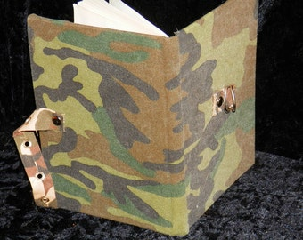 CAMO Army JOURNAL Dystopia, Upcycled, LINED with Clasp