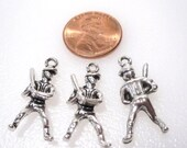 50 % Off Sale Baseball Player Charms, Antique Silver 25x13x5mm, Multi packs, C 381