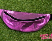 Purple Lamé Bumbag - small and large sizes