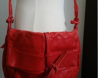 Vintage Red JWM Derr Bag