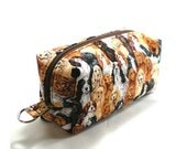 Pre-Vacation Clearance Medium Zipper Box Pouch Project or Travel Case Spaniels