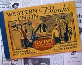 Vintage Western Union Papers, Blank Pages, Booklet, 1930s, 23 Forms