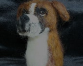 Needle Felted Wool Boxer Finger Puppet