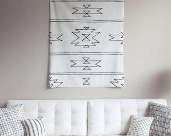 NEW MEXICO TAPESTRY - wall art - wall hanging - home decor - southwest - decoration - cotton - screen print - fabric - modern
