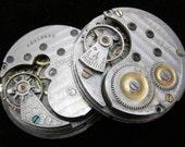 Steampunk Watch Movements pocket watch Vintage Antique Porcelain faces dial P 93