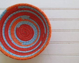 "6"" Coiled Fabric Bowl - Pure Sunshine"