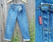 "Vintage Levi's Jeans  //  Vtg 80s 90s Made in the USA Levi 501xx Distressed Indigo Button Fly Jeans  // 28.5"" waist"
