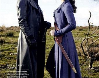 Custom Made Pride + Prejudice + Zombies Genuine leather trench frock coat Mr Darcy Jane Austen