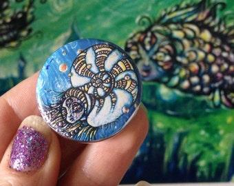 Nautilus Goddess pin