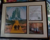 RESERVED FOR magswheels2002 ONLY! The Wizard Of Oz Special Collector's Edition Print Framed with Certificate of Authenticity on the back