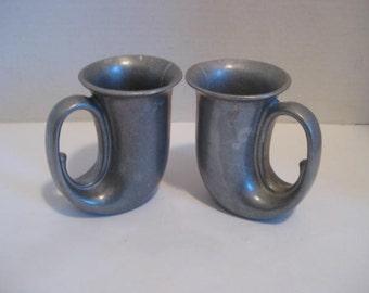 Free Shipping Vintage Wilton Pewter Trumpet Mugs Tankards Steins