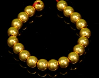 18k Solid Yellow Gold 4.25MM Plain Round Spacer Beads 3 INCH Strand (20)