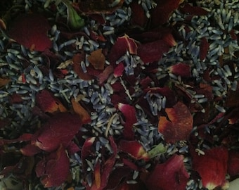 Love and Devotion - French Lavender Buds and Rose Petals  - Potpourri - Wedding Toss - sold  by the cup - lots available