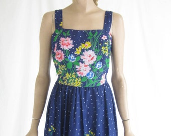 Vintage 70's Boho Maxi Dress.