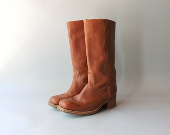 Vintage Frye Boots / 1980s Frye Campus Boots / Leather Frye Riding Boots
