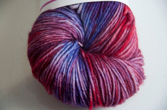 Hand-Dyed Fireworks Colourway DK Yarn Superwash Polwarth Bounce Base