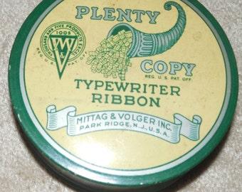 Vintage Plenty Copy Typewriter Ribbon Case Upcycle Steampunk