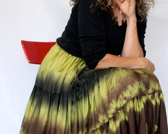 Special order for Joan, Silk 2 Tier Skirt, Handmade and Dyed with Shibori