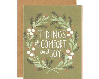 Tidings of Comfort and Joy Illustrated Card