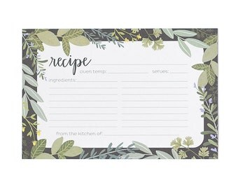 Herb Border Recipe Cards - Set of 15 // 1canoe2 // Hand Illustrated
