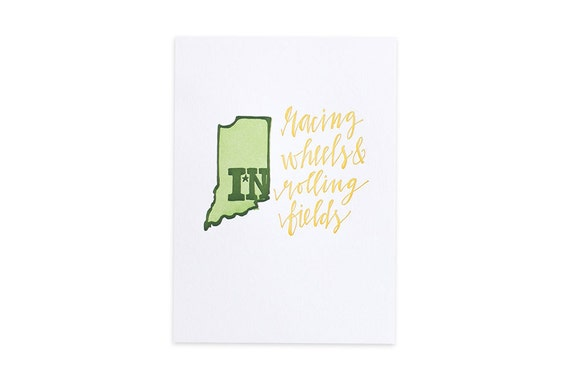 Indiana Letterpress State Print